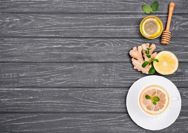 Copiar espacio té de limón y miel