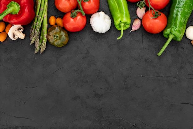 Copiar espacio verduras