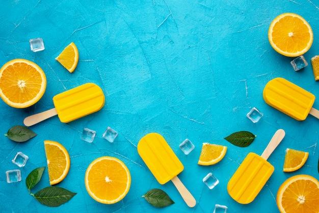 Copiar helados con sabor a naranja