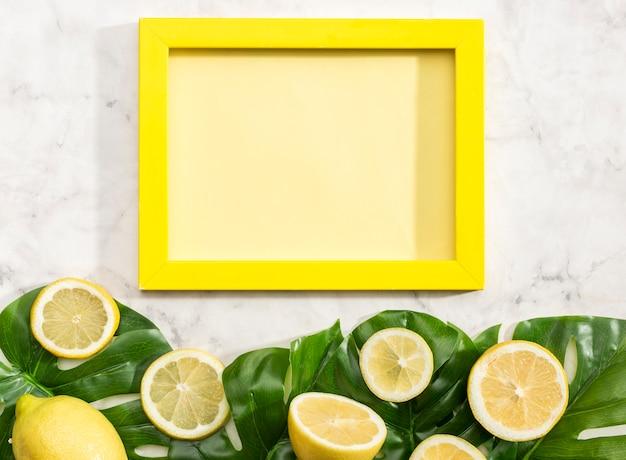 Copiar tarjeta de espacio con limones