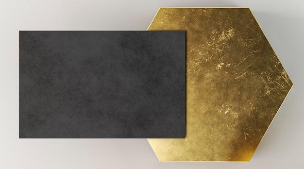Copie la tarjeta de visita del espacio y la forma abstracta