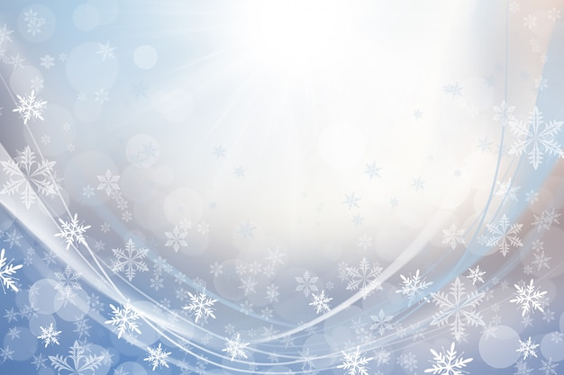 Copos de nieve blanca