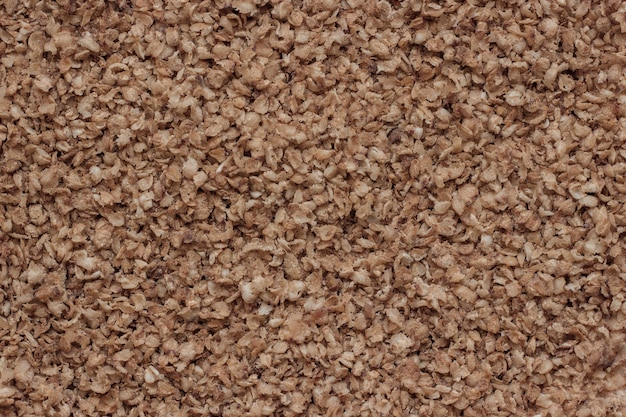 Copos de trigo sarraceno, textura de fondo