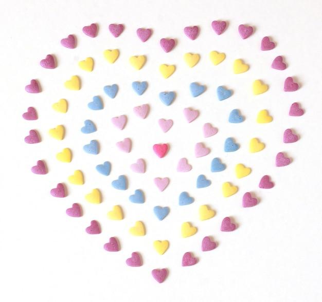 Corazón colorido caramelo