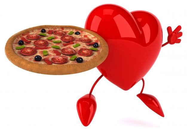 Corazón divertido - personaje 3d