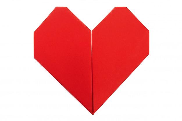 Corazón de origami símbolo del día de san valentín