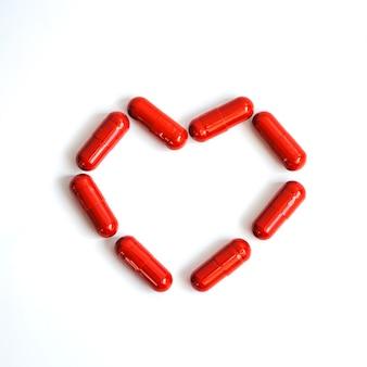 Corazón de pastillas