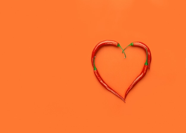Corazón de pimientos, pop art, día de san valentín