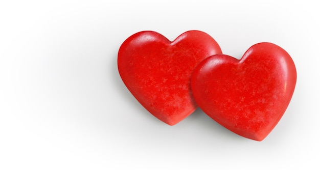 Corazón rojo y conceptos de donación