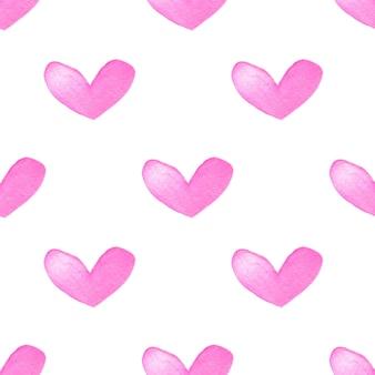 Corazones rosas acuarela