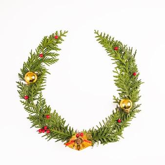 Corona de abeto de navidad