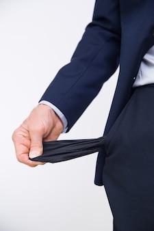 Corporativo empleado pantalones de hombre de negocios sin empleo