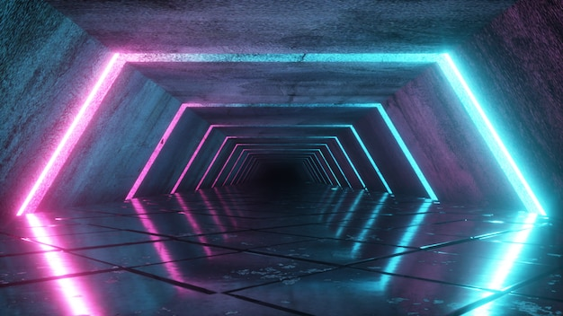 Corredor vacío futurista odern