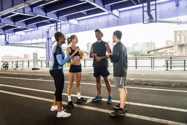 Corredores entrenando en nueva york