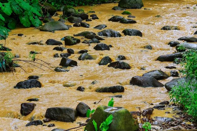 Corriente despues de la lluvia