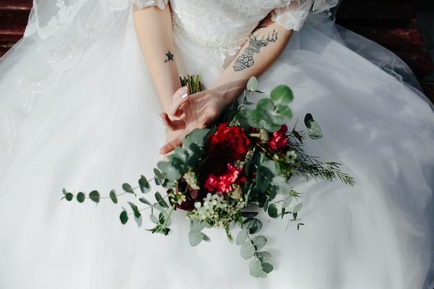 Cosecha de novia con ramo