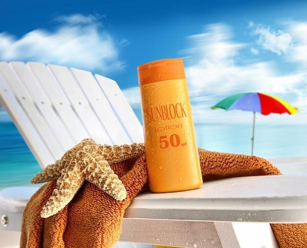 Cosmeticos en playa