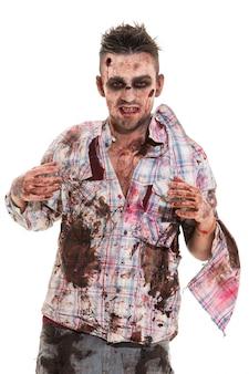 Cosplay de zombie aterrador