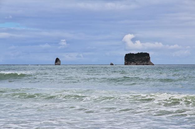 Costa oeste en la isla sur, nueva zelanda