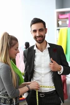 Costura diseño de ropa sastrería costura concepto