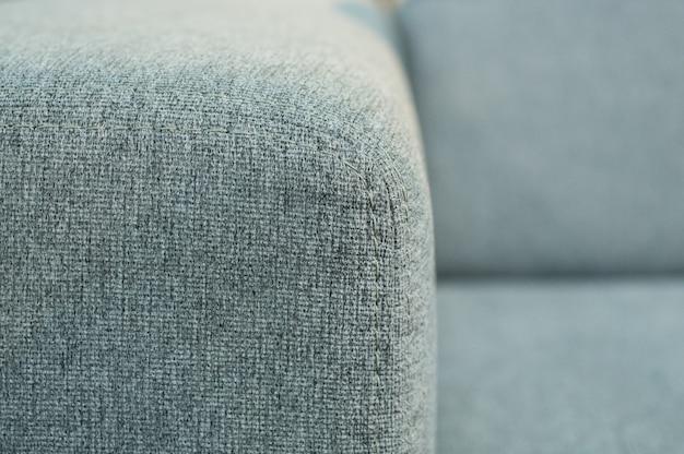 Costuras en el primer plano del sofá