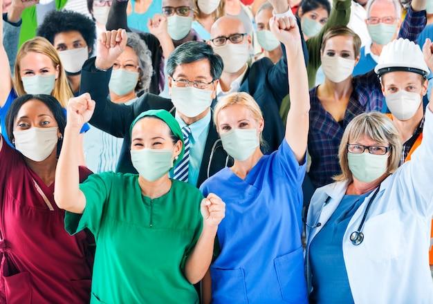 Covid-19 atención médica de primera línea y trabajadores esenciales