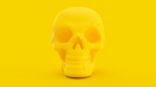 Cráneo amarillo de color mínimo.