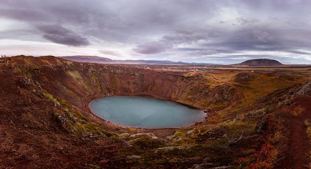 Cráter kerið en el sur de islandia.