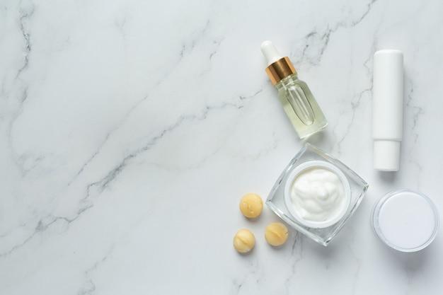 Crema para la piel de loción corporal de macadamia