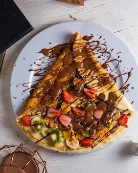 Crepe con chocolate y fresa