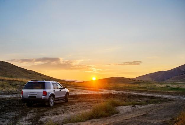 Crimea, hermosa puesta de sol