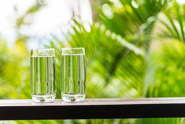 Cristal de agua al aire libre