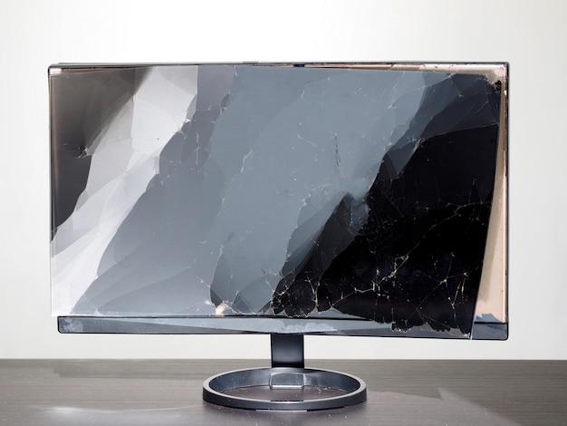Cristal roto de pantalla lcd rota.