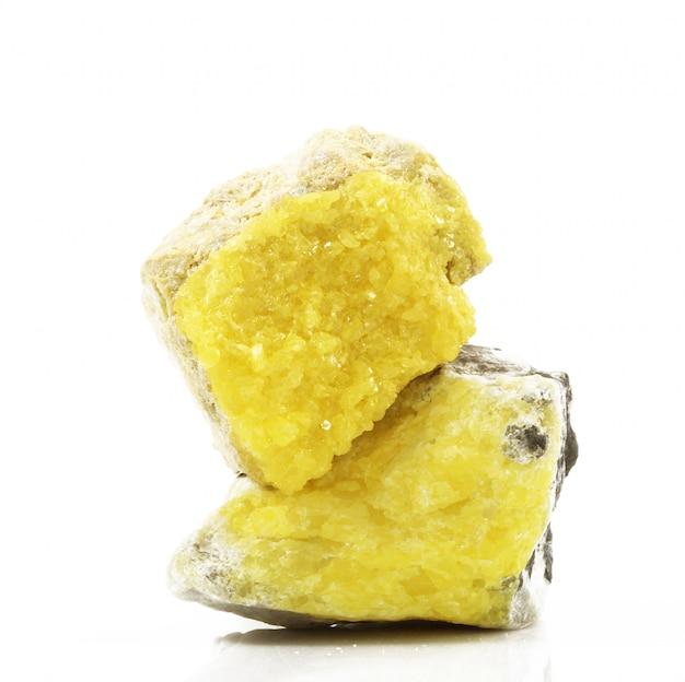 Cristales de azufre