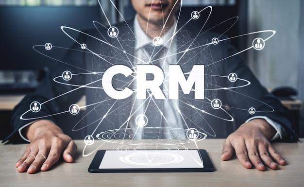 Crm customer relationship management para el concepto de sistema de marketing de ventas comerciales