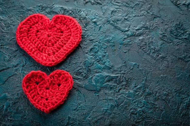 Crochet corazones de san valentín.