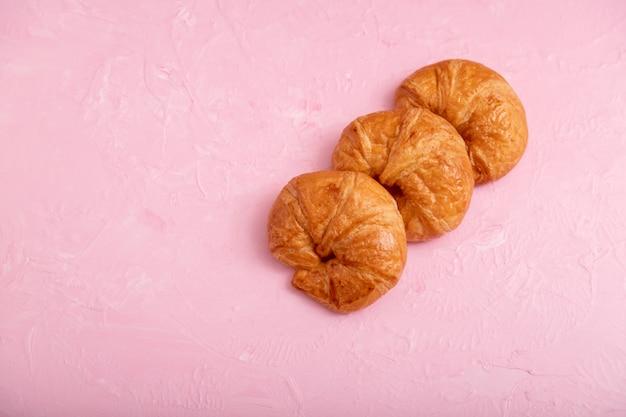 Croissants 3 piezas en rosa