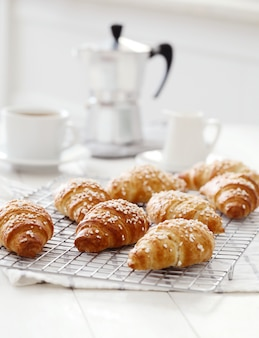 Croissants franceses para el desayuno