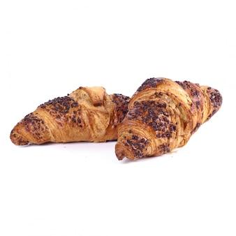 Croissants en la mesa