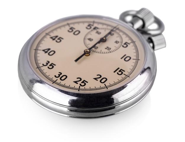 Cronómetro antiguo aislado en blanco