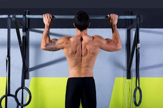 Crossfit dedos para barra hombre pull-ups 2 barras de entrenamiento