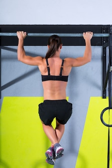 Crossfit dedos para barra mujer pull-ups 2 barras de entrenamiento