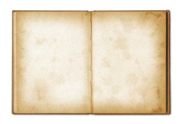 Cuaderno abierto viejo grunge