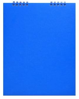 Cuaderno aislado sobre fondo blanco