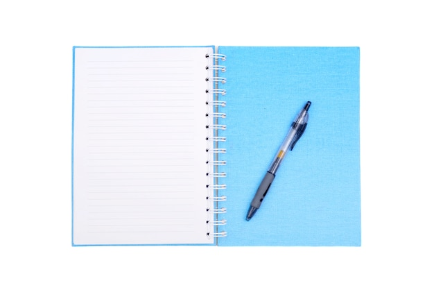 Cuaderno con bolígrafo