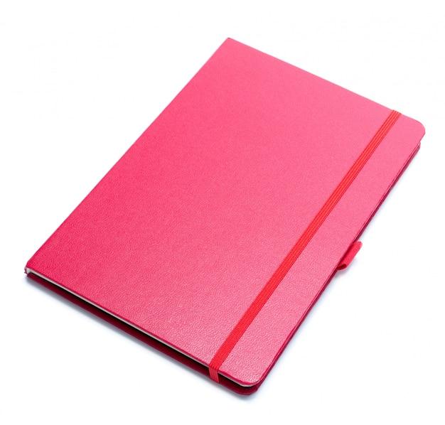 Cuaderno sobre fondo blanco