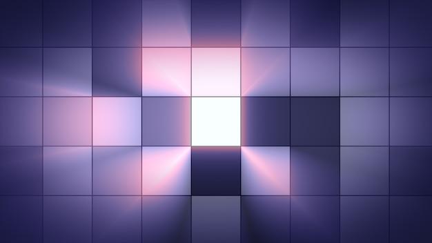 Los cuadrados de luz de fondo parpadean. ambiente del club