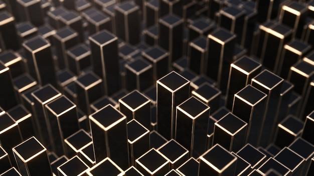 De cuadrados negros y dorados