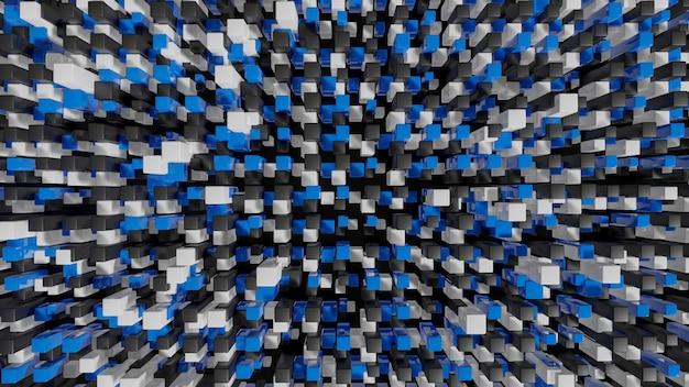 Cuadrados a todo color extruidos paisaje urbano abstracto 3d