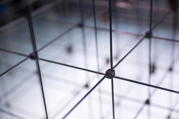 Cuadrícula cúbica abstracta